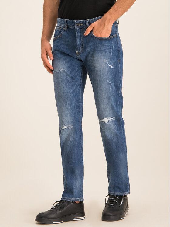 Armani Exchange Armani Exchange Jeansy Slim Fit 6GZJ13 Z2GXZ 1500 Granatowy Slim Fit