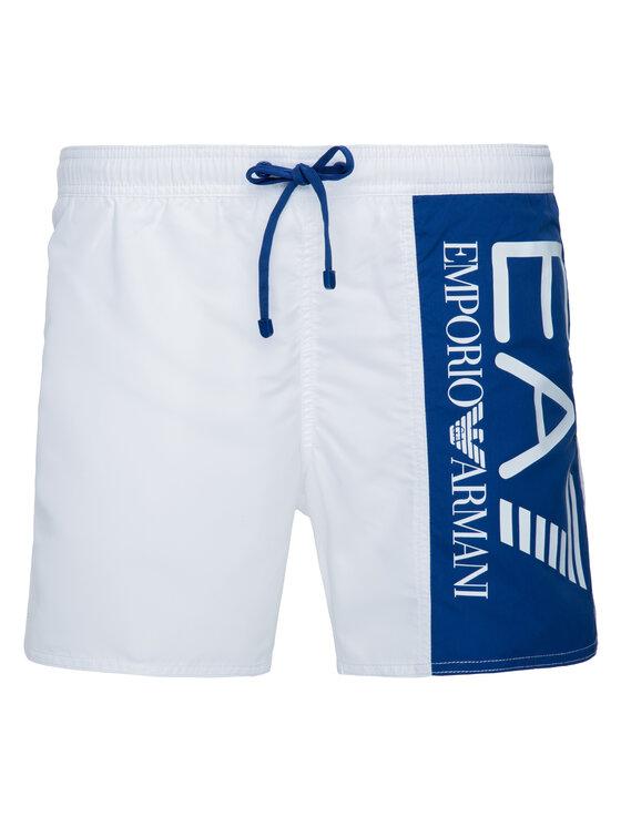 EA7 Emporio Armani EA7 Emporio Armani Szorty kąpielowe 902000 9P738 00010 Biały Regular Fit