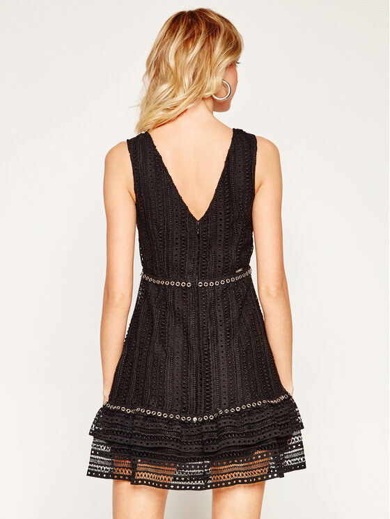 Guess Guess Φόρεμα κοκτέιλ Leandra W0GK50 WCTQ0 Μαύρο Regular Fit