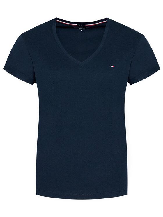 Tommy Hilfiger Tommy Hilfiger Marškinėliai Low V UW0UW00676 Tamsiai mėlyna Regular Fit