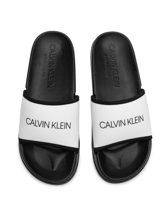 Calvin Klein Swimwear Calvin Klein Ciabatte Slide KM0KM00377 Bianco
