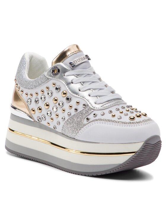 Guess Guess Laisvalaikio batai Hamptyn FL5HAM ELE12 Balta