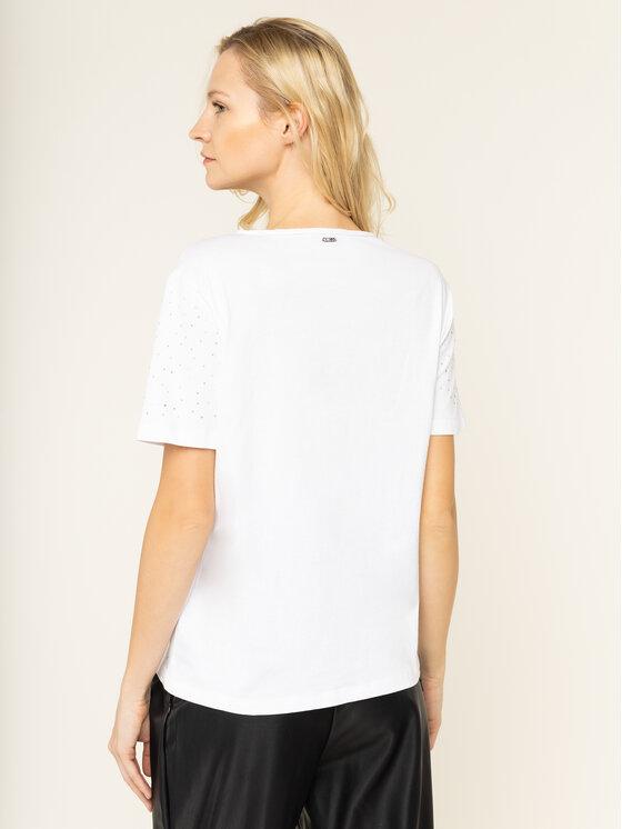 Guess Guess T-Shirt Edwina W01P92 K7DN0 Biały Slim Fit