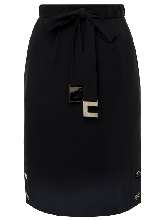 Elisabetta Franchi Elisabetta Franchi Φούστα pencil GO-279-96E2-V209 Μαύρο Slim Fit