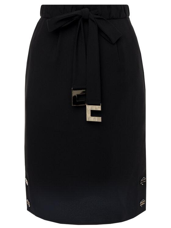 Elisabetta Franchi Elisabetta Franchi Puzdrová sukňa GO-279-96E2-V209 Čierna Slim Fit