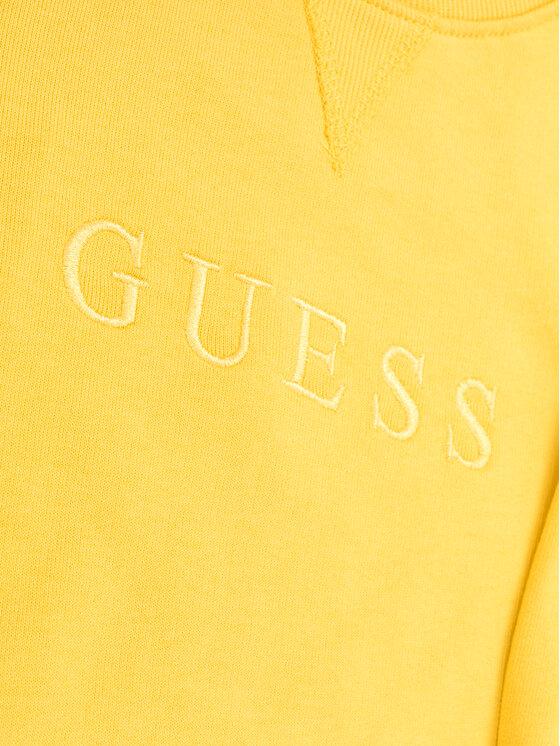 Guess Guess Mikina H01T00 K8D80 Žltá Regular Fit
