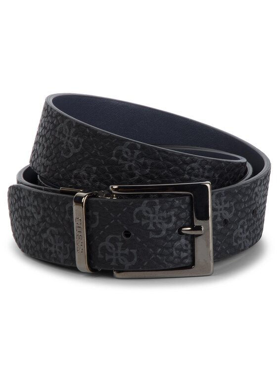 Guess Guess Pánsky opasok City Logo Belts BM7173 LEA35 Čierna
