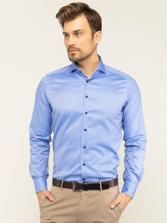Emanuel Berg Emanuel Berg Camicia Hv-Harvard PEB45789 Blu Modern Fit