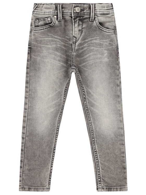 Pepe Jeans Pepe Jeans Jeansy Finly PB200527 Szary Skinny Fit