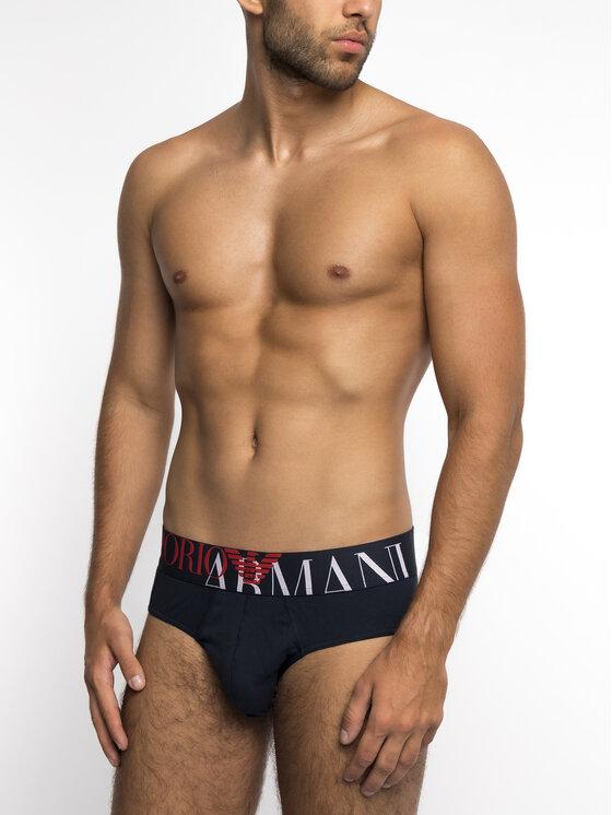 Emporio Armani Underwear Emporio Armani Underwear Slipy 110814 9P516 00135 Granatowy