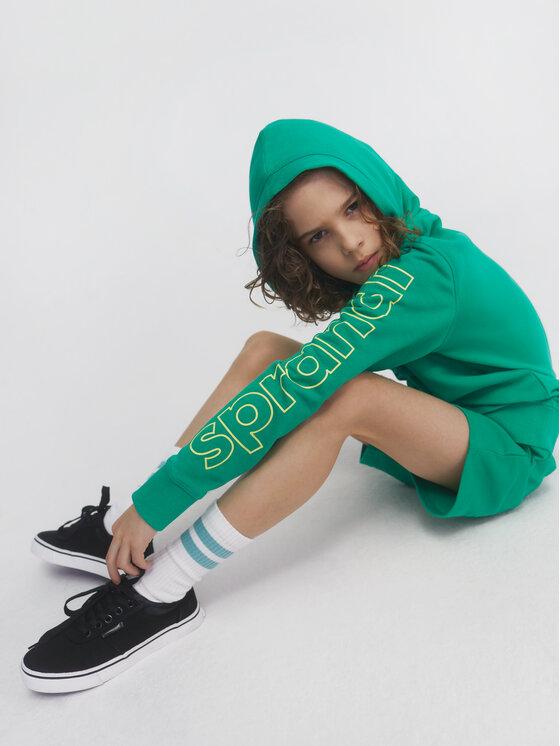 Sprandi Sprandi Bluza SS21-BLB002 Zielony Regular Fit