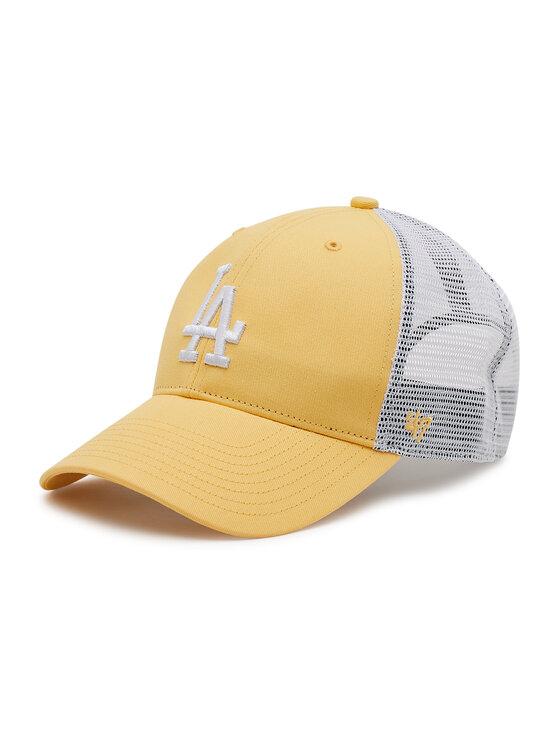47 Brand Kepurė su snapeliu Los Angeles Dodgers B-FLGSH12GWP-MZ Geltona