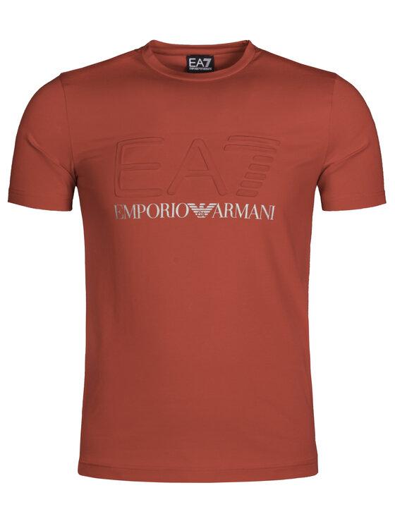 EA7 Emporio Armani EA7 Emporio Armani Póló 3GPT04 PJ03Z 1450 Piros Slim Fit
