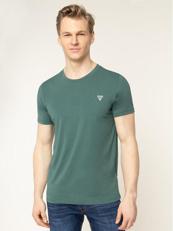 Guess Guess T-Shirt U94M09 JR00A Zielony Regular Fit
