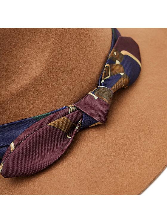 Lauren Ralph Lauren Lauren Ralph Lauren Šešir Wool Fedora Tie Band 454855078001 Smeđa