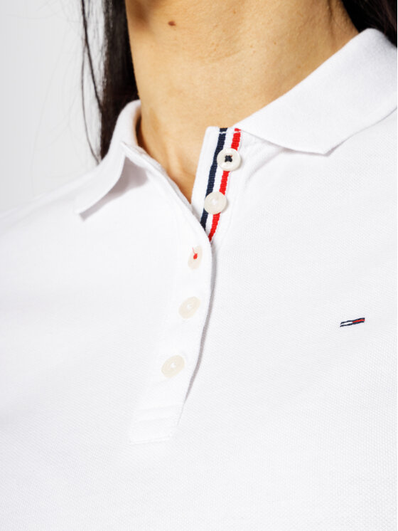 Tommy Jeans Tommy Jeans Polo Original DW0DW04434 Blanc Regular Fit