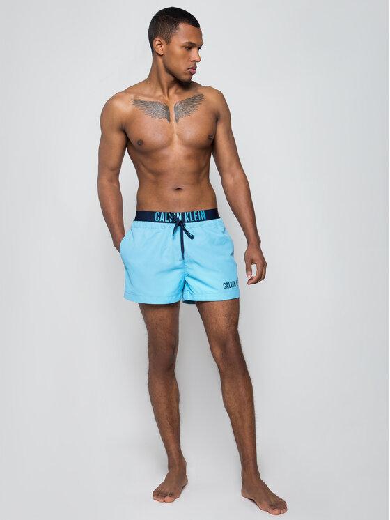 Calvin Klein Swimwear Calvin Klein Swimwear Short de bain Drawstring Wb KM0KM00460 Bleu Regular Fit