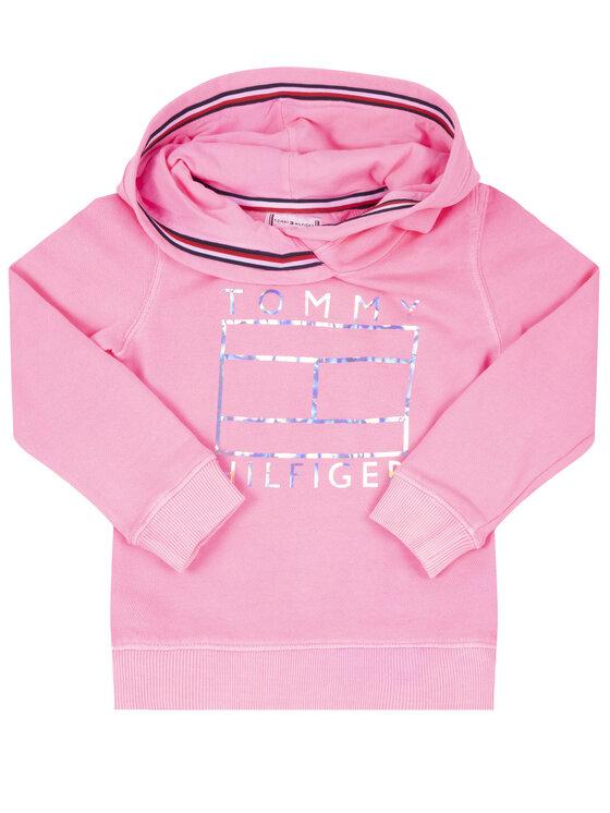 Tommy Hilfiger Tommy Hilfiger Bluza Essential Flag KG0KG04938 D Różowy Regular Fit