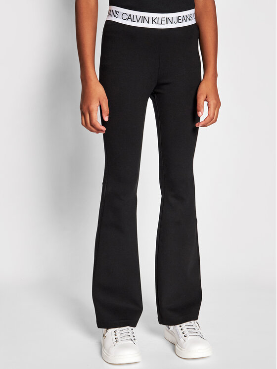 Calvin Klein Jeans Calvin Klein Jeans Legginsy Logo Waistband Punto IG0IG00859 Czarny Slim Fit