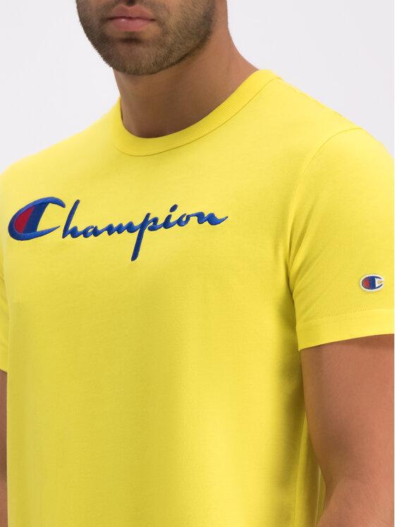Champion Champion T-Shirt 210972 Żółty Regular Fit