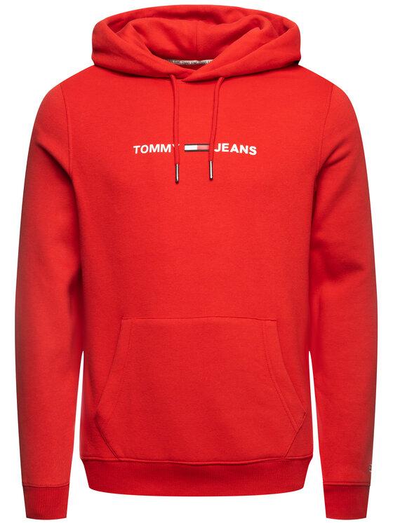 Tommy Jeans Tommy Jeans Mikina Straight Small Logo DM0DM07622 Červená Slim Fit