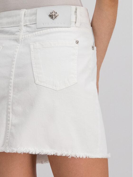 John Richmond John Richmond Φούστα τζιν RWP19241MG Λευκό Slim Fit