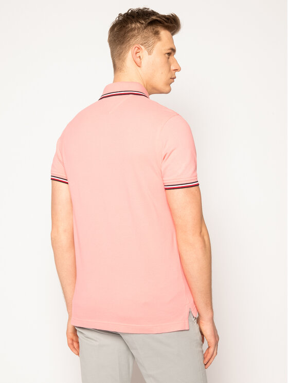 TOMMY HILFIGER TOMMY HILFIGER Polo Tipped MW0MW13080 Rose Slim Fit