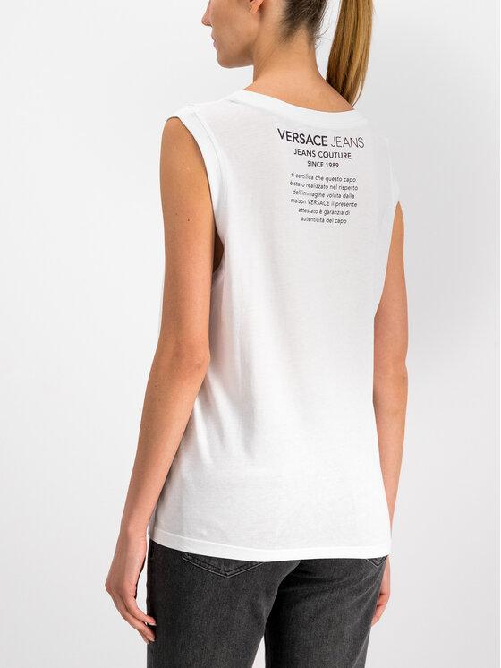 Versace Jeans Versace Jeans Top D3HTB6T8 Biały Regular Fit
