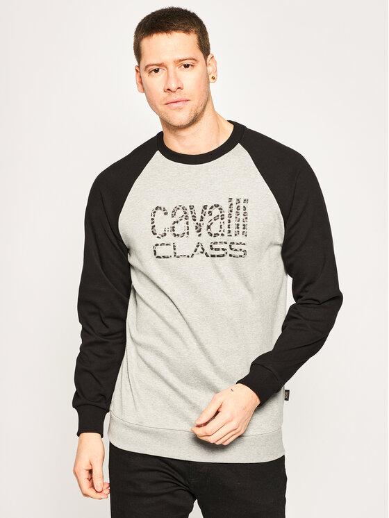 Cavalli Class Džemperis B7JVB748 Pilka Regular Fit
