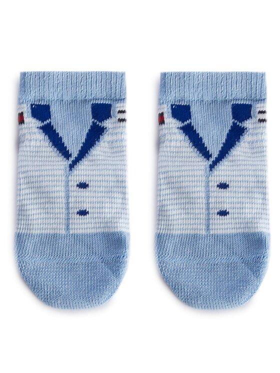 Tommy Hilfiger Tommy Hilfiger Set de 3 perechi de șosete lungi pentru copii 475007001 Albastru