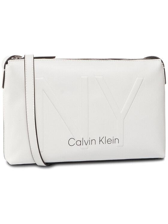 Calvin Klein Calvin Klein Torebka Ny Shaped Ew Crossbody K60K606493 Biały