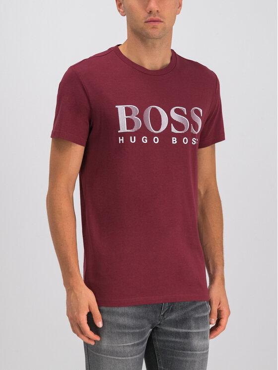 Boss Boss T-shirt 50407774 Bordeaux Regular Fit