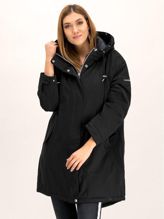 Calvin Klein Calvin Klein Parka Peached Down K20K201191 Μαύρο Regular Fit