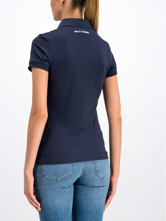 Helly Hansen Helly Hansen Тениска с яка и копчета Crewline 53049 Тъмносин Regular Fit