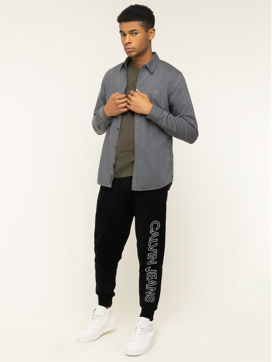 Calvin Klein Jeans Calvin Klein Jeans Hemd J30J314243 Grau Slim Fit