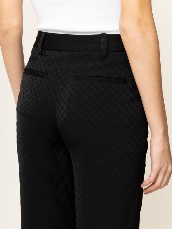 MICHAEL Michael Kors MICHAEL Michael Kors Bavlnené nohavice Logo MF93H7GCBT Čierna Regular Fit