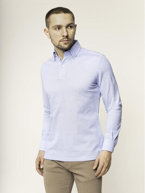 Emanuel Berg Polo marškinėliai H-Basel HBD PEB45765 Tamsiai mėlyna Slim Fit