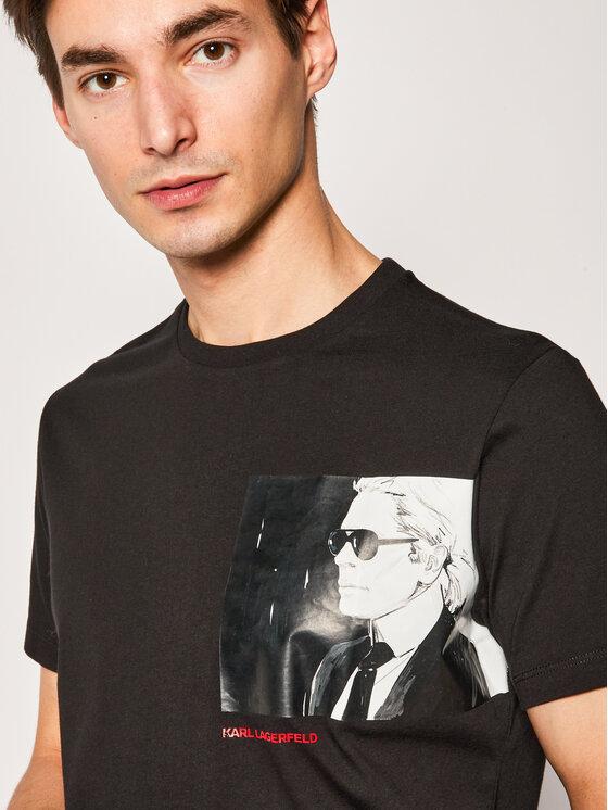 KARL LAGERFELD KARL LAGERFELD T-Shirt Crewneck 755092 501224 Schwarz Regular Fit