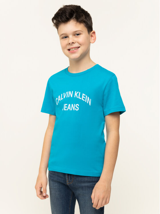 Calvin Klein Jeans Calvin Klein Jeans T-Shirt IB0IB00182 Niebieski Regular Fit