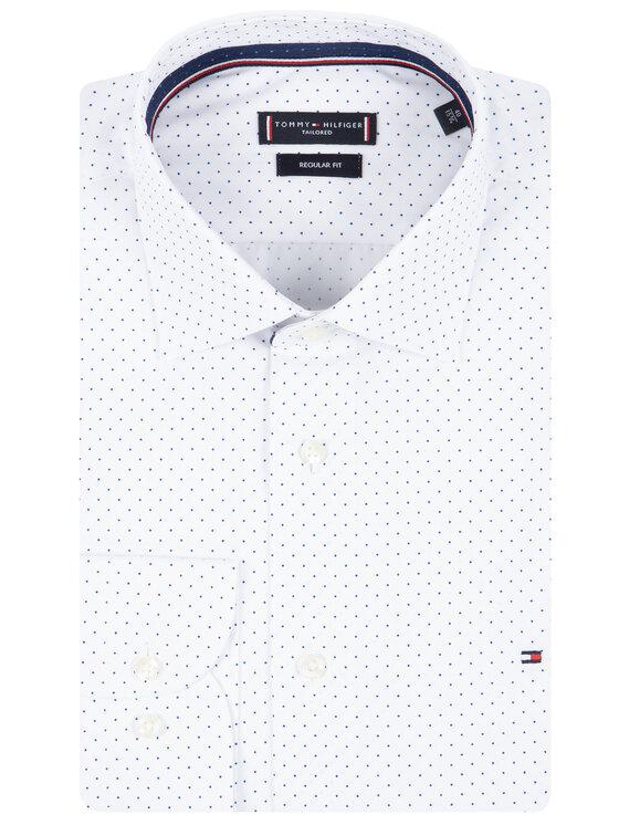 Tommy Hilfiger Tailored Tommy Hilfiger Tailored Chemise Poplin Dot Classic TT0TT06463 Blanc Regular Fit