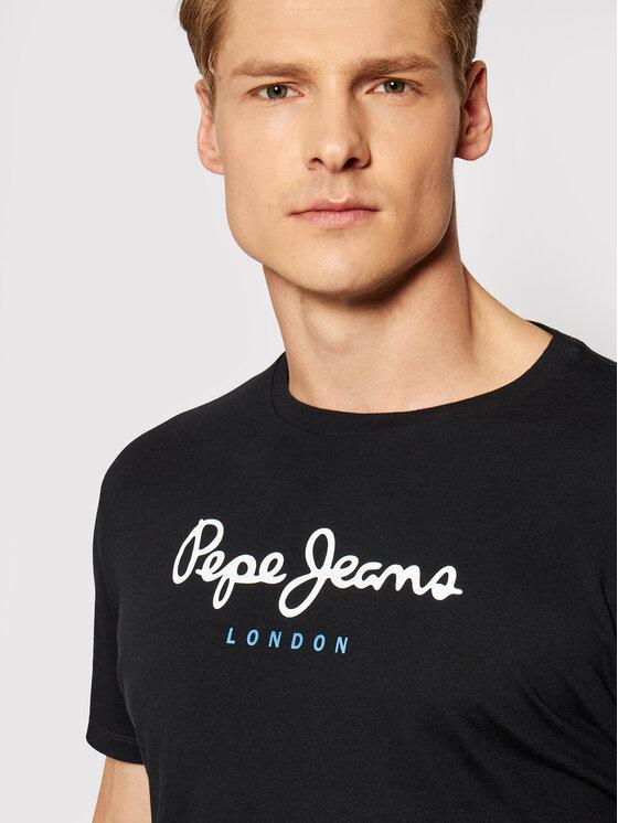Pepe Jeans Pepe Jeans Tričko Eggo PM500465 Čierna Regular Fit