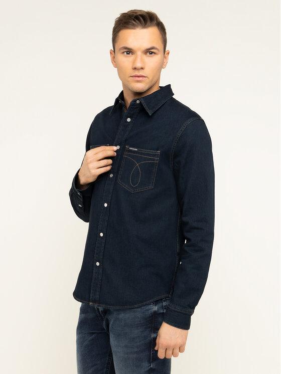 Calvin Klein Jeans Calvin Klein Jeans Košile Iconic Deadwood J30J313654 Tmavomodrá Regular Fit