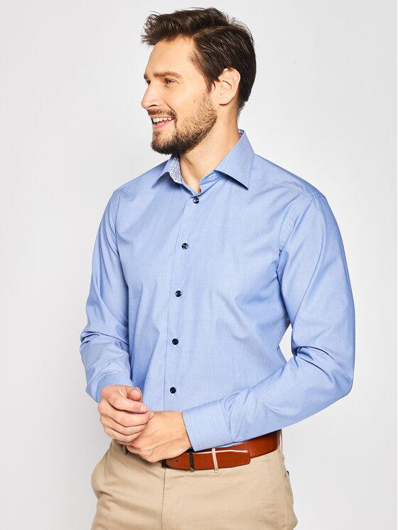 Eton Marškiniai 100000959 Mėlyna Slim Fit