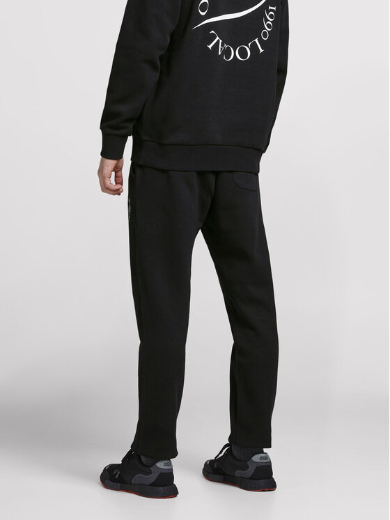 Jack&Jones Jack&Jones Spodnie dresowe Elias 12195676 Czarny Comfort Fit