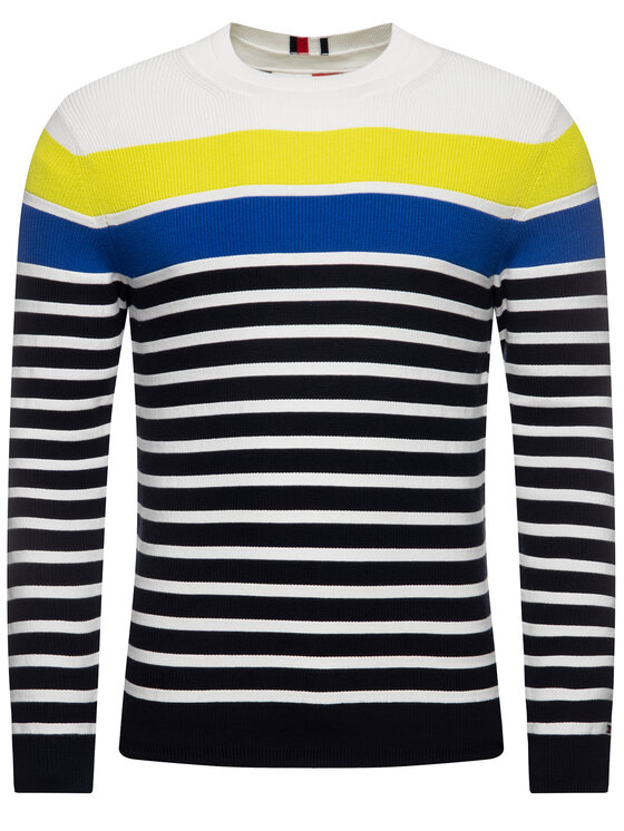 TOMMY HILFIGER TOMMY HILFIGER Pullover Breton Striped MW0MW12282 Bunt Regular Fit