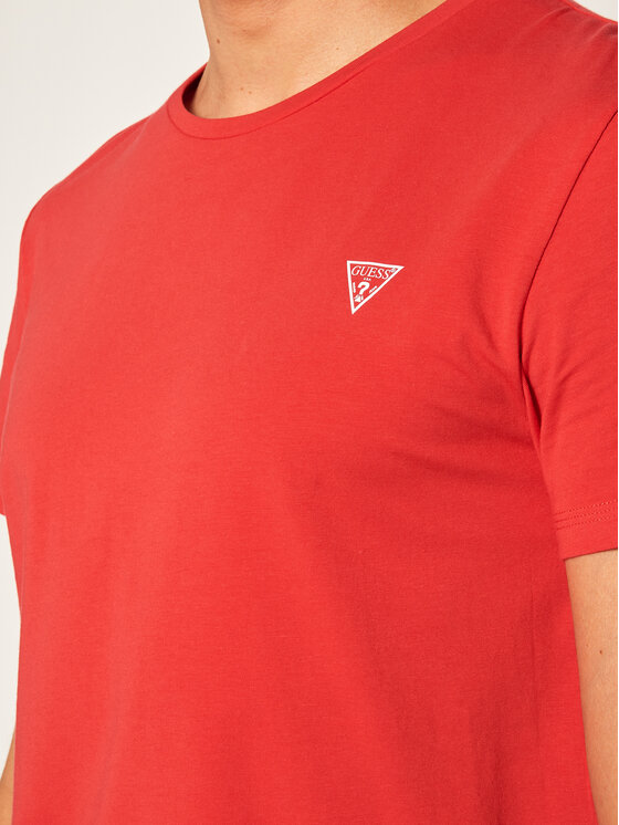Guess Guess T-Shirt Crew U94M09 JR00A Czerwony Regular Fit