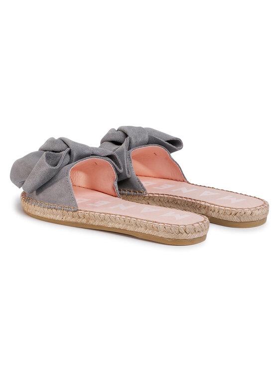 Manebi Manebi Espadryle Sandals With Bow A C.1 J0 Szary