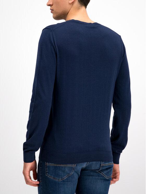 Trussardi Trussardi Maglione V-Neck Long Sleeves Pure Cotton Regular 52M00222 Blu scuro Regular Fit