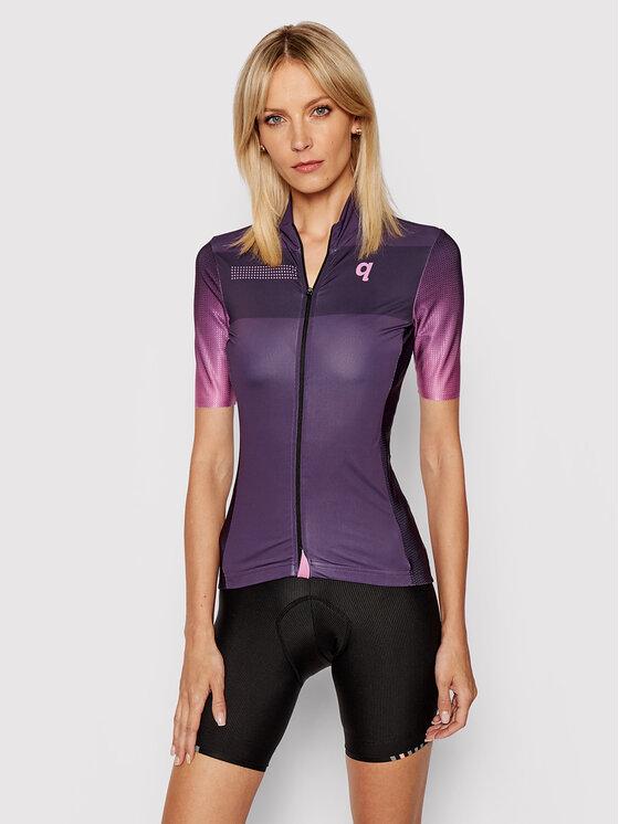Quest Dviratininko marškinėliai Essential Violetinė Comfort Fit