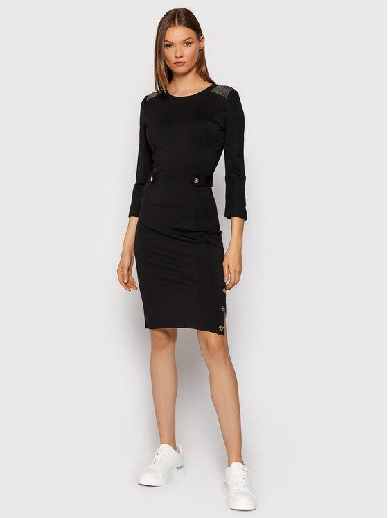 Liu Jo Sport Liu Jo Sport Džemper haljina TF1163 J6182 Crna Slim Fit